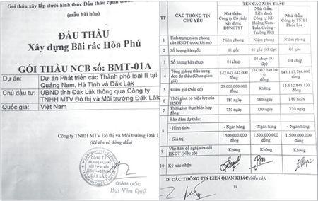 Goi thau 'tai tieng' xay dung bai rac Hoa Phu (Dak Lak): 2 trong 3 nha thau to thong thau - Anh 1