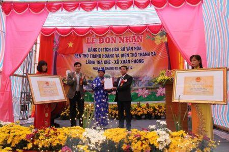 Tung bung le don nhan bang Di tich lich su van hoa Den lang Tra Khe - Anh 1