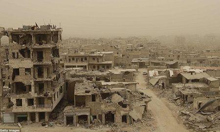 Hinh anh bao cat tan cong thanh pho Aleppo - Anh 1