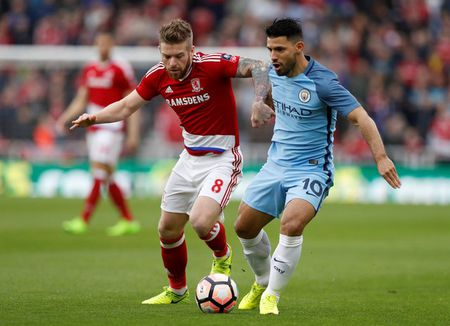 Nhe nhang ha Middlesbrough, Man City vao ban ket FA Cup - Anh 1