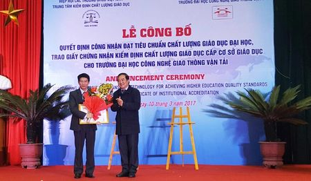 Dai hoc Cong nghe Giao thong van tai dat tieu chuan chat luong giao duc - Anh 1