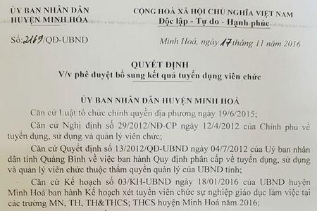 La lung xet tuyen giao vien o tinh Quang Binh - Anh 1