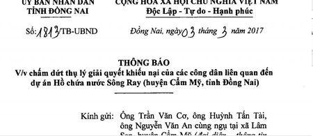 Ngung giai quyet khieu nai du an ho chua nuoc Song Ray - Anh 2