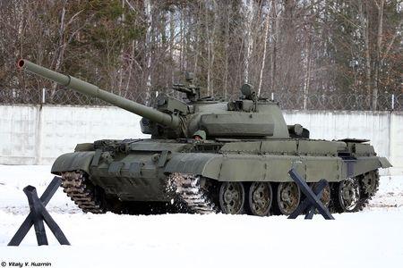 Khoanh khac xe tang T-62M bi xe xac o Syria - Anh 6
