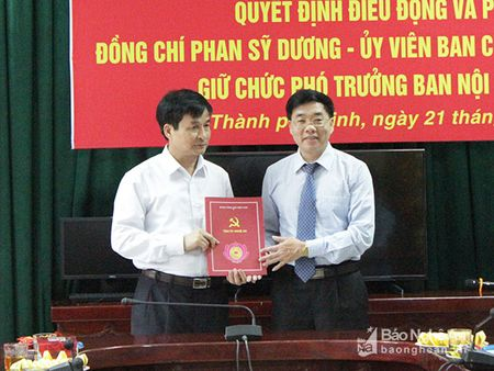 Nghe An: Trao quyet dinh bo nhiem Pho truong Ban Noi chinh Tinh uy - Anh 1