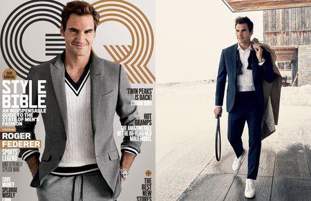 Federer xuat hien goi cam tren tap chi thoi trang - Anh 1