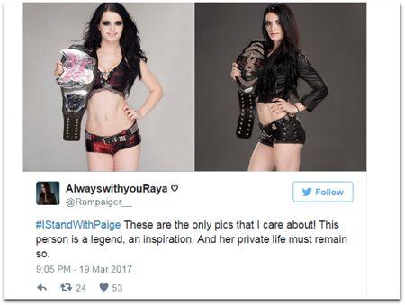 Fan len tieng bao ve sao WWE lo anh nong - Anh 6