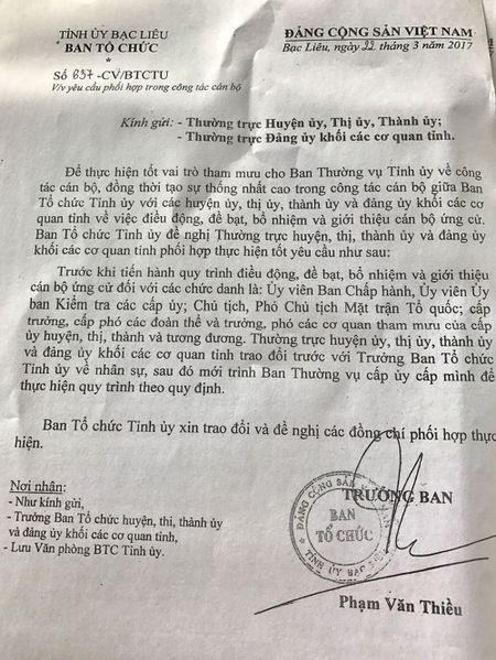 Truong ban To chuc Tinh uy bi tuyt coi vi 'lan san' cap duoi - Anh 1