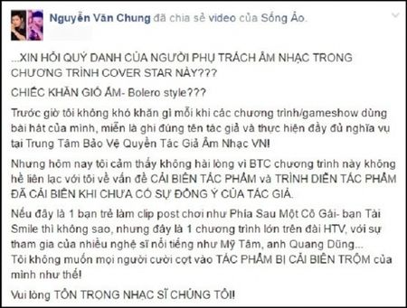 Ca khuc bi che bua, nhac si Nguyen Van Chung buc xuc - Anh 2