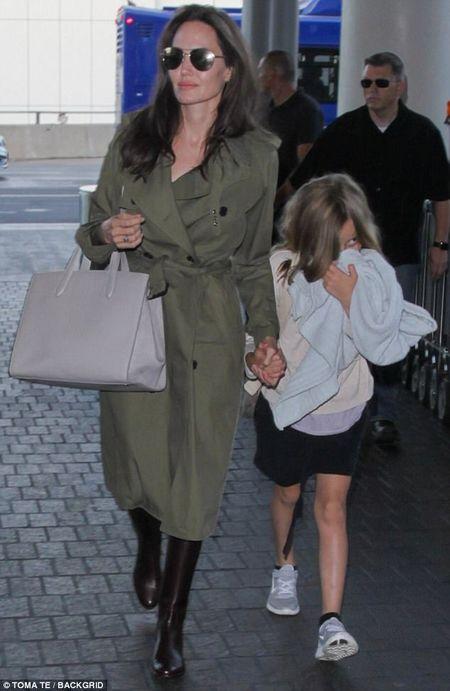 Angelina Jolie dan 6 con di du lich ma khong co Brad Pitt - Anh 1