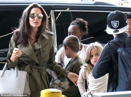 Angelina Jolie dan 6 con di du lich ma khong co Brad Pitt - Anh 4