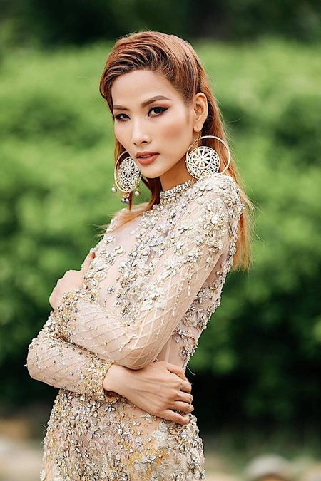 Hoang Thuy an che quen xia rang gay 'sot' duoc MC Phan Anh ung ho? - Anh 1