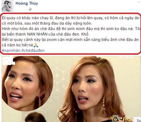 Hoang Thuy an che quen xia rang gay 'sot' duoc MC Phan Anh ung ho? - Anh 4