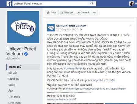 May loc nuoc Unilever Pureit Vietnam quang cao lo: Unilever Viet Nam noi gi? - Anh 2
