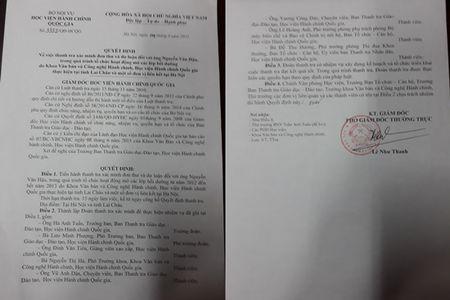 Hoc vien Hanh chinh Quoc gia va nhung chung chi khong duoc cong nhan - Anh 1