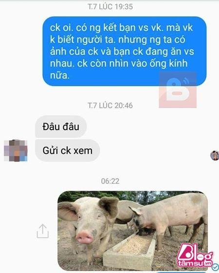 Dang lam bong vo nhan tin 'Chong oi, em co bau voi anh Minh roi! - Anh 2