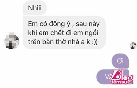 Dang lam bong vo nhan tin 'Chong oi, em co bau voi anh Minh roi! - Anh 3