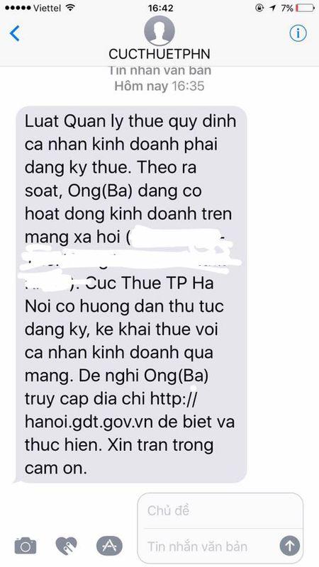 Ha Noi bat dau thu thue kinh doanh online qua Facebook, Zalo - Anh 4