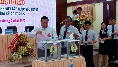 LDLD tinh Soc Trang: Chon CDCS Cty TNHH MTV cap nuoc lam dai hoi diem - Anh 1
