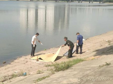 Ha Noi: Phat hien thi the noi tren ho Linh Dam - Anh 1