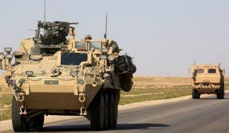 Hang tram xe quan su My tran vao Syria tu bien gioi Iraq - Anh 1