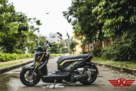 Honda Zoomer X do 'mong to' cua dan choi Ha Noi - Anh 7