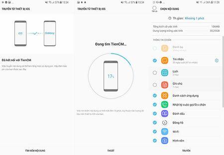 """Cach dung Smart Switch de """"chuyen nha"""" sang Galaxy S8/S8+ - Anh 6"""