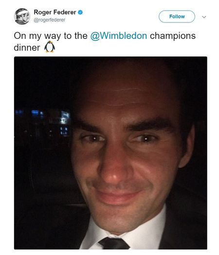 Chum anh: Roger Federer lich lam du tiec mung Nha vo dich Wimbledon - Anh 4