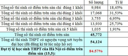 Thu do Ha Noi co gan 85% so thi sinh dat tren diem san - Anh 1