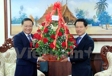 Nhieu chuong trinh dac sac ky niem quan he huu nghi, hop tac Viet Nam - Lao - Anh 1
