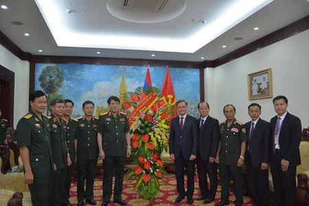 Lanh dao Bo Quoc phong chuc mung Dai su quan Lao - Anh 1