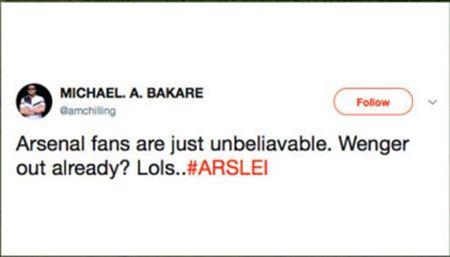 Ngay tran ra mat, 'Wenger Out' da lam loan Twitter - Anh 10