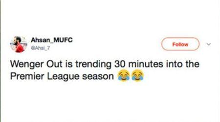Ngay tran ra mat, 'Wenger Out' da lam loan Twitter - Anh 11