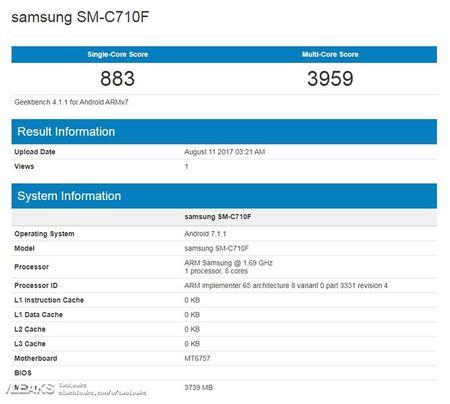 Galaxy C7 lap chip Helio P20, RAM 4GB lo dien tren Geekbench - Anh 2