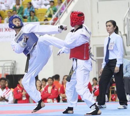 SEA Games 29 Taekwondo Viet Nam quyet lap thanh tich cao - Anh 1