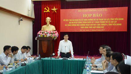 Thu truong Bo Giao thong van tai: khong di chuyen tram Cai Lay - Anh 1