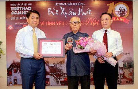 Nha van hoa Huu Ngoc doat giai Bui Xuan Phai - Vi Tinh yeu Ha Noi lan thu 10 - Anh 2