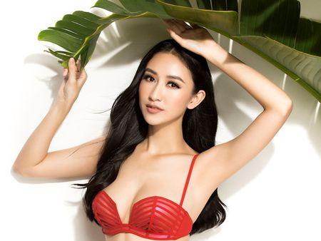 Ha Thu khoe dang voi bikini truoc khi len duong thi Hoa hau Trai dat - Anh 1