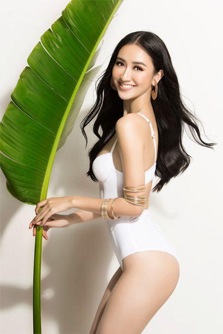 Ha Thu khoe dang voi bikini truoc khi len duong thi Hoa hau Trai dat - Anh 3