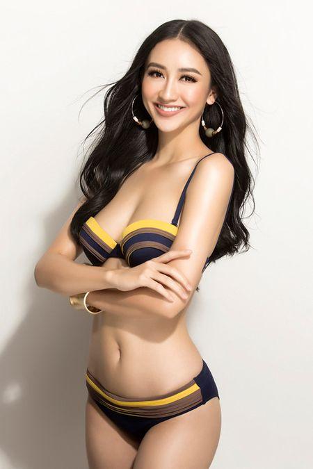 Ha Thu khoe dang voi bikini truoc khi len duong thi Hoa hau Trai dat - Anh 6