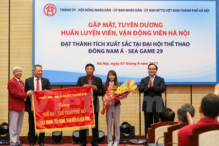 Ha Noi tuyen duong HLV, VDV dat thanh tich tai SEA Games 29 - Anh 1