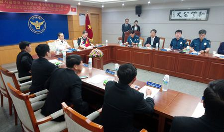 Doan Dai bieu CATP Da Nang tham, lam viec tai Han Quoc - Anh 1