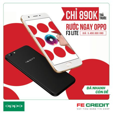 So huu dien thoai OPPO F3 chi voi 890 ngan dong - Anh 1