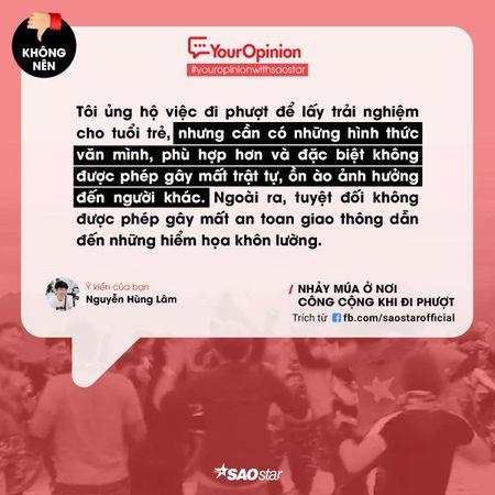 #YourOpinion: Cu dan mang noi gi ve clip phuot thu 'quay' nhac tung bung ben le duong? - Anh 1