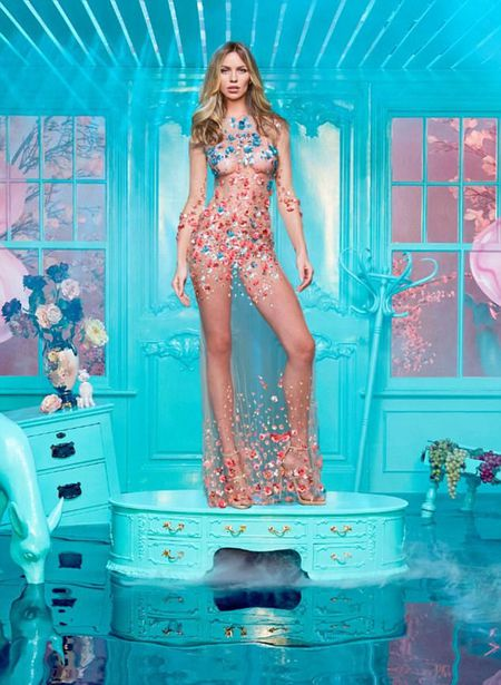 Abbey Clancy 'mac nhu khong' chup hinh cho Britain's Next Top Model - Anh 1