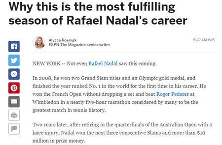 Thong tri US Open: Nadal vi dai nhat, Federer sap 'hit khoi' - Anh 5