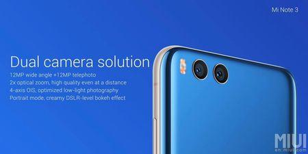 Xiaomi gioi thieu Mi Note 3: Snapdragon 660, camera kep - Anh 3