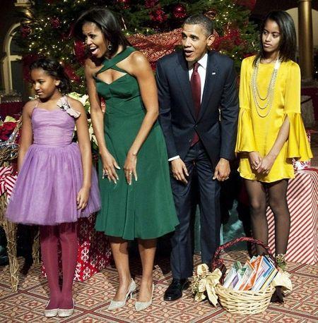 Michelle Obama tre trung voi dam xanh la cho U50 - Anh 10