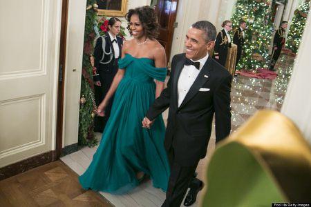 Michelle Obama tre trung voi dam xanh la cho U50 - Anh 1