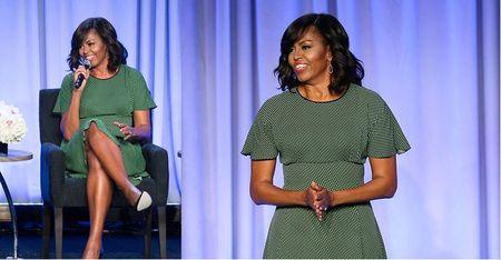 Michelle Obama tre trung voi dam xanh la cho U50 - Anh 5